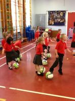 P1 & 2 taster session with Burns Soccer School